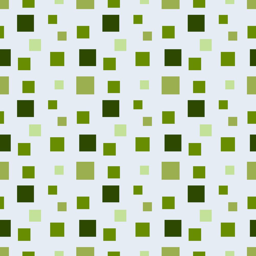 Green Monochrome Squares Pattern