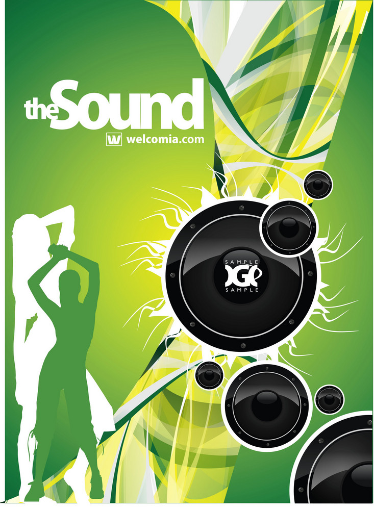 Green Music Vector
