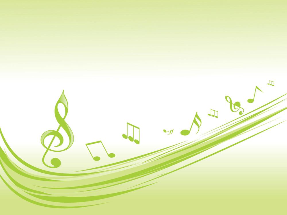 Green Musical Waves Illustration