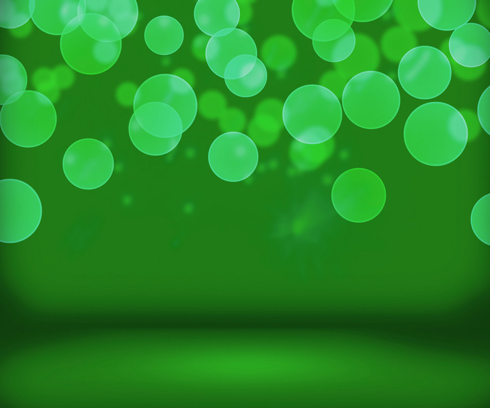Green New Year Background Stage
