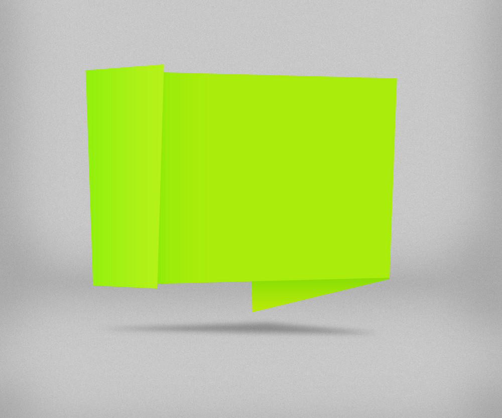 Green Origami Background