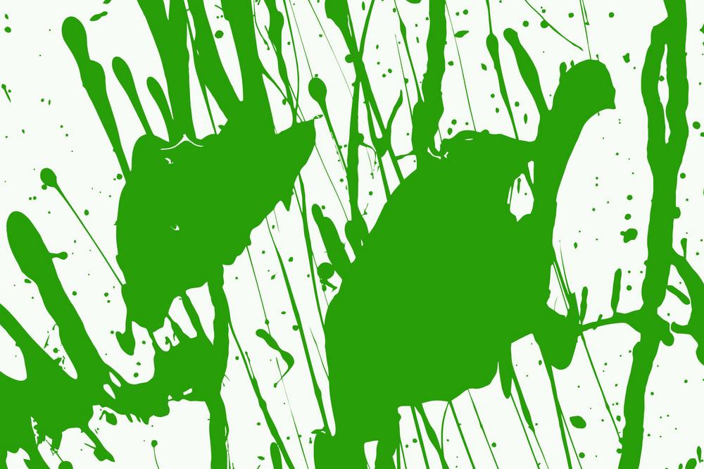 Green Paint Vector