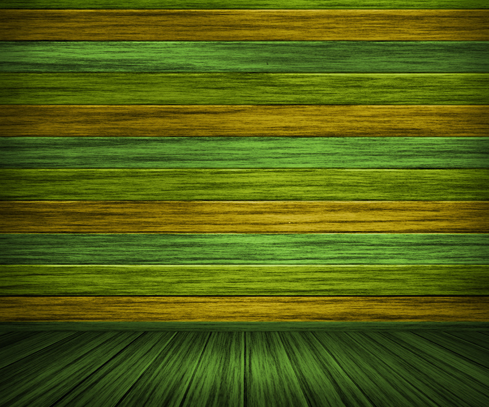 Green Painted Wooden Interior