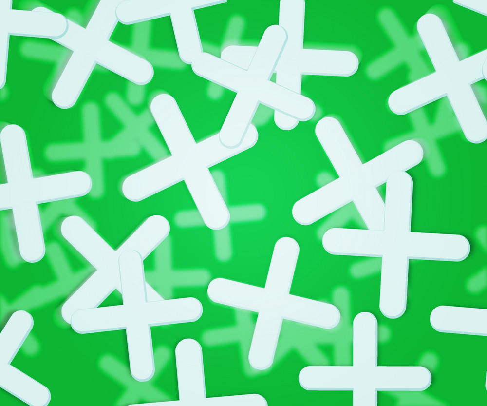 Green Plus Abstract Background