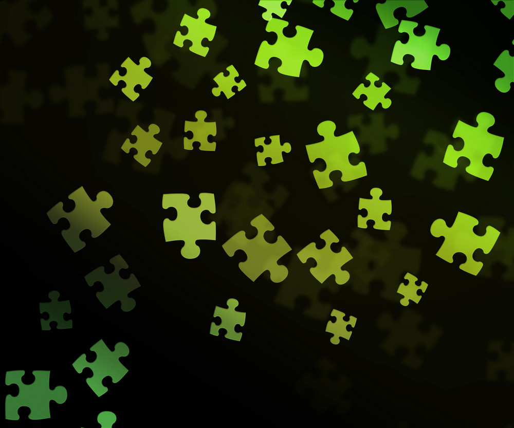 Green Puzzle Background