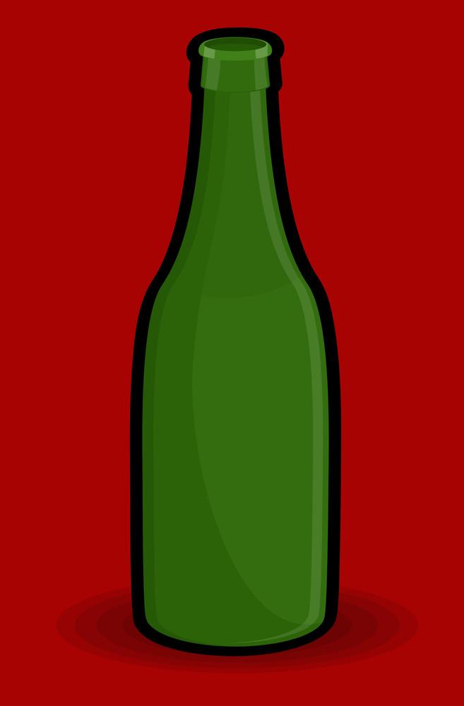 Green Retro Bottle Vector