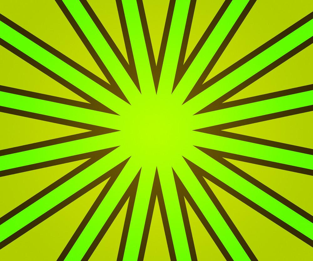 Green Retro Rays Backdrop