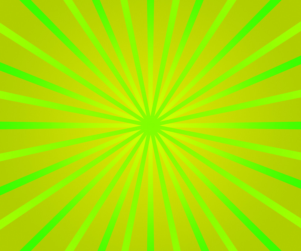 Green Retro Rays Background