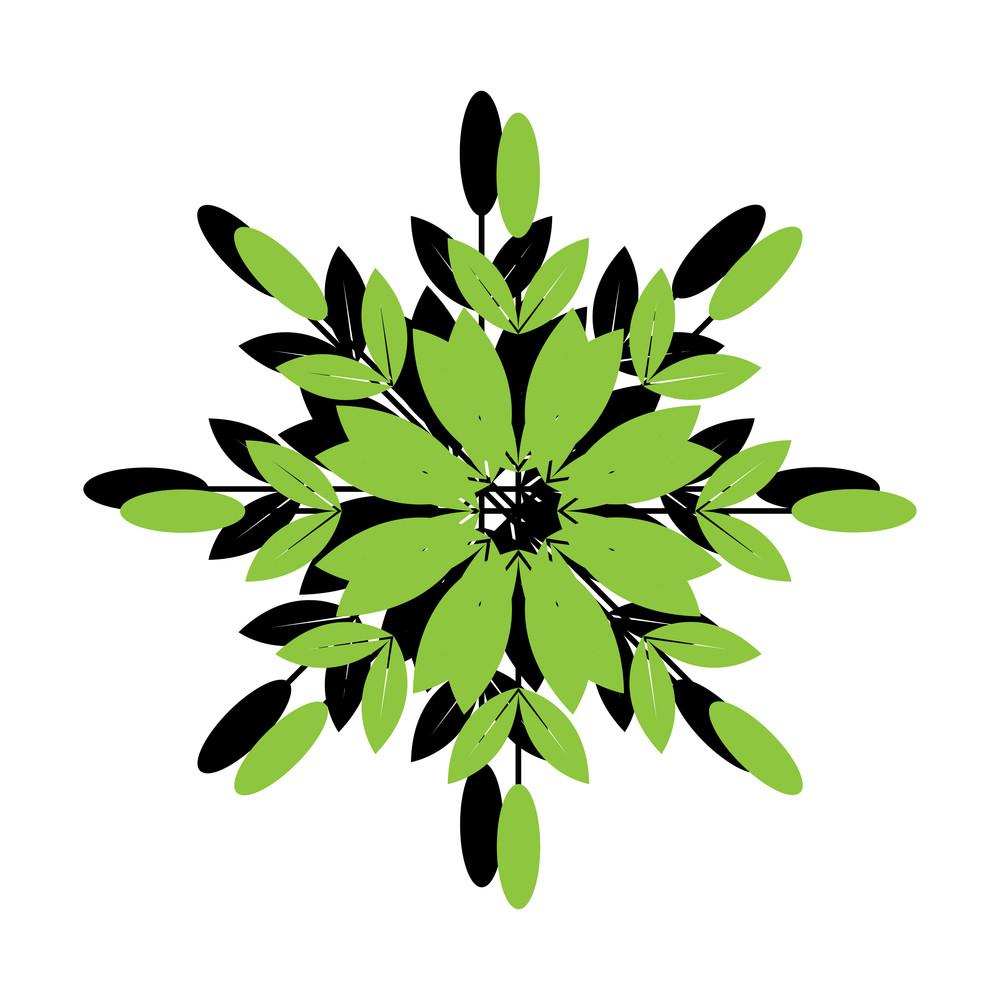 Green Retro Snowflake