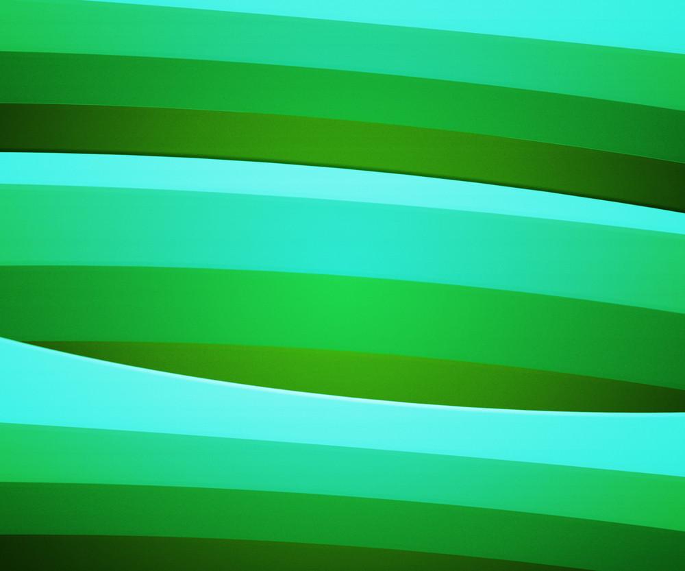Green Retro Striped Background