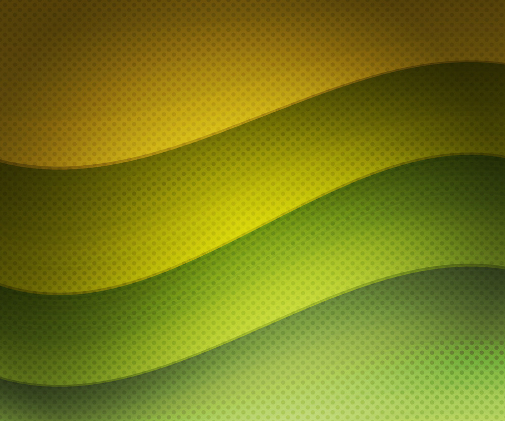 Green Retro Wavy Background