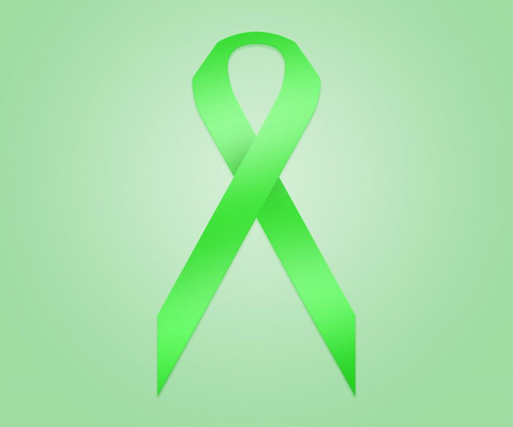 Green Ribbon Background