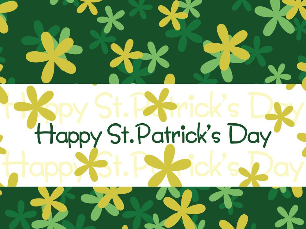 Green Shamrock Flower Background 17 March