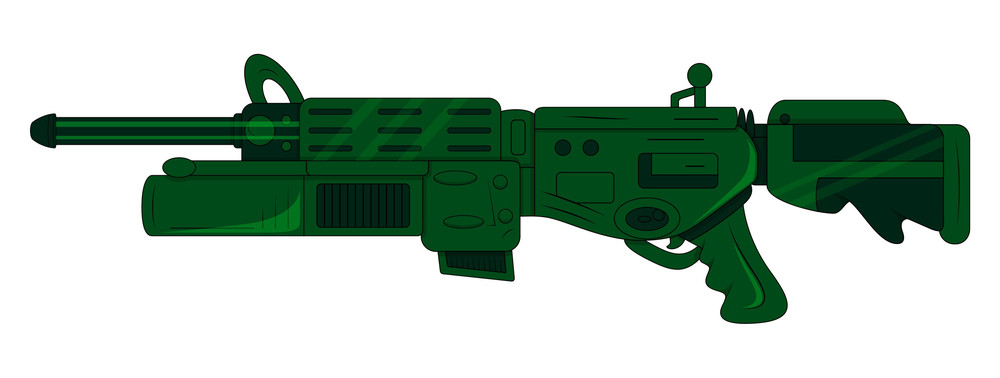 Green Shooting Gun