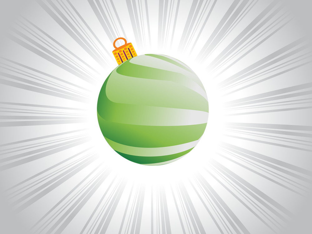 Green Simple X'mas-balls