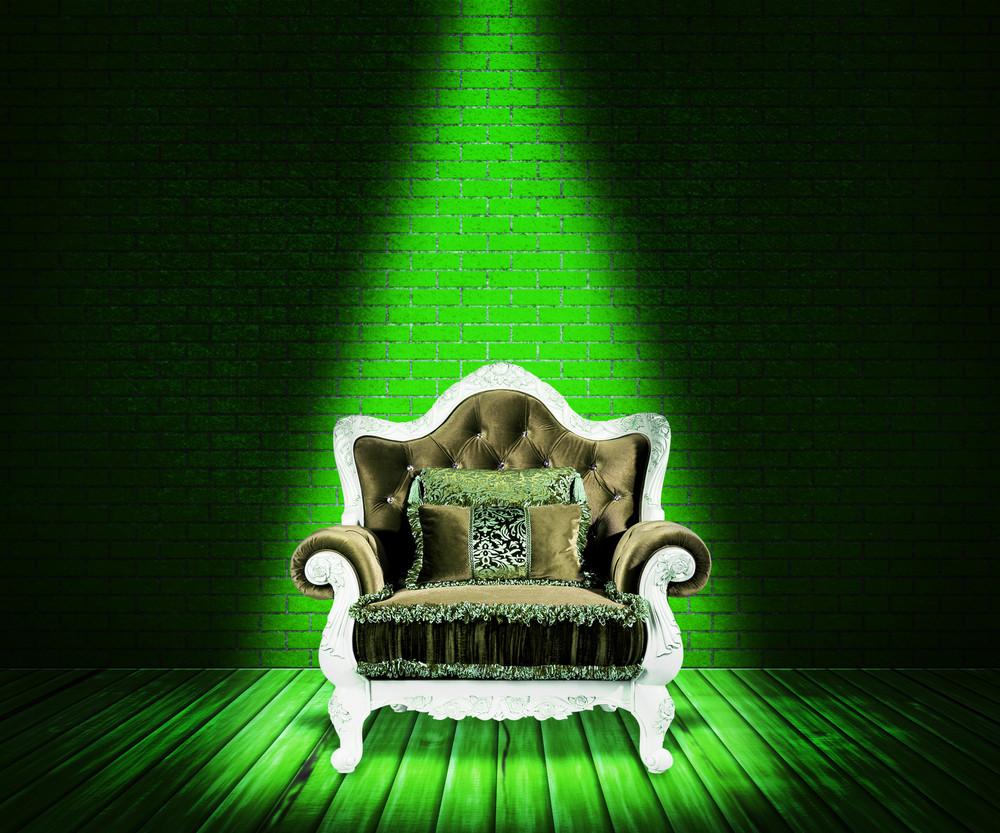 Green Sofa Interior Background