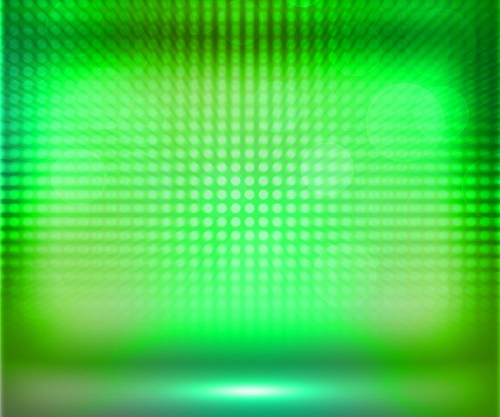 Green Soft Spotlights Room