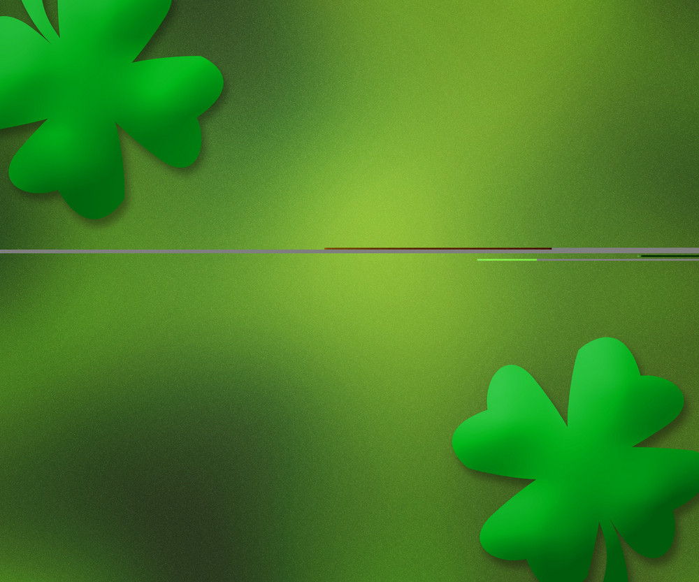 Green St. Patrick's Day Simple Background