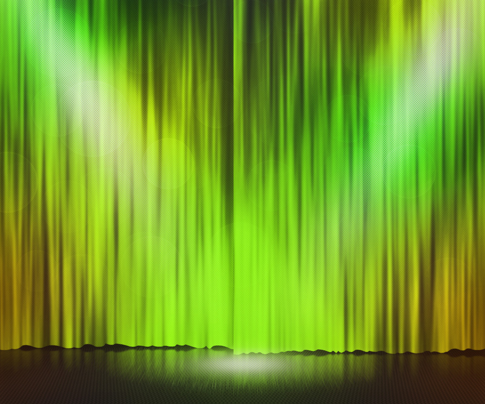 Green Stage Spotlight Background