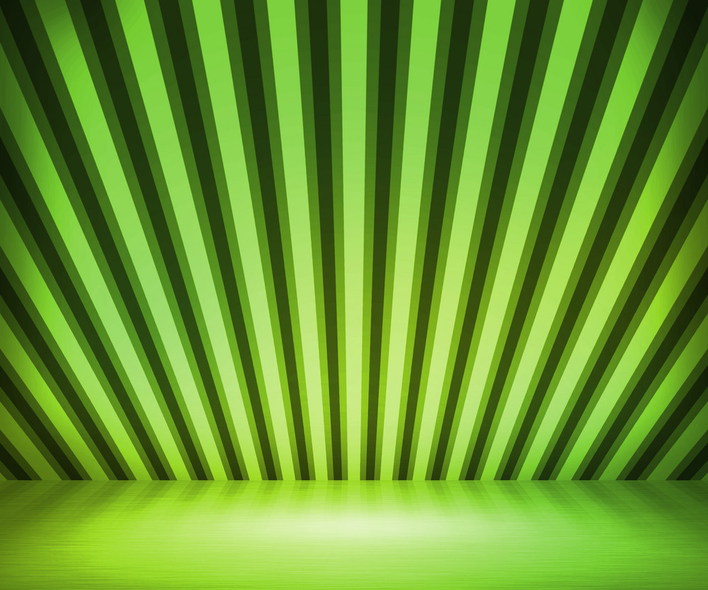 Green Striped Background Show Room