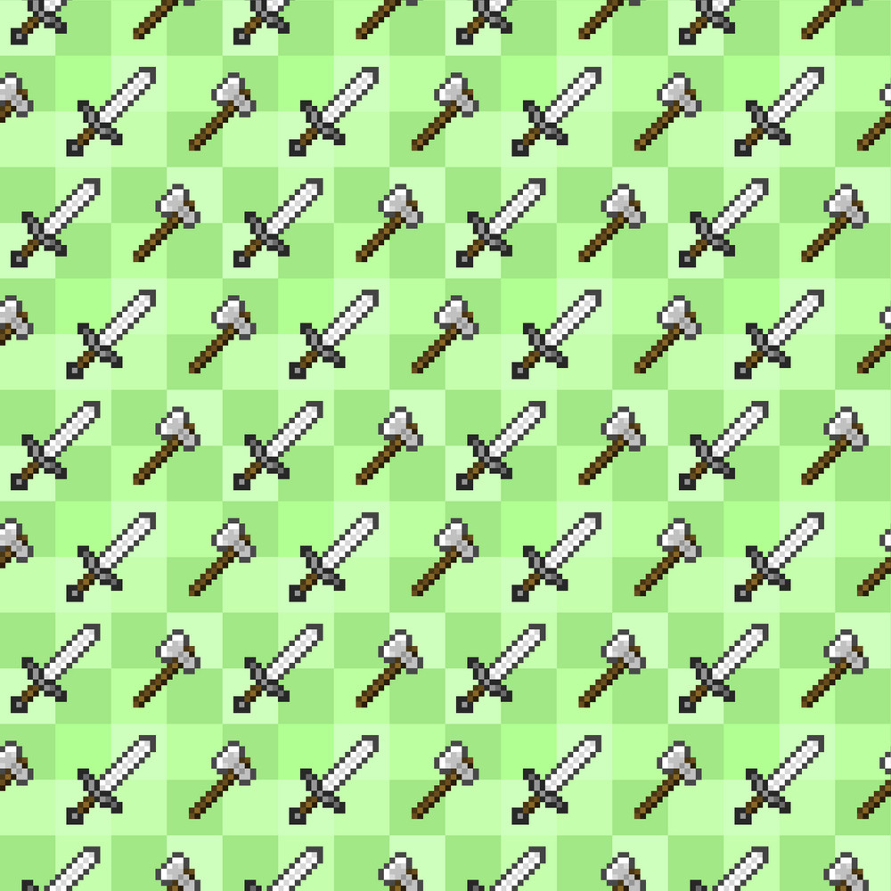 Green Sword Minecraft Pattern