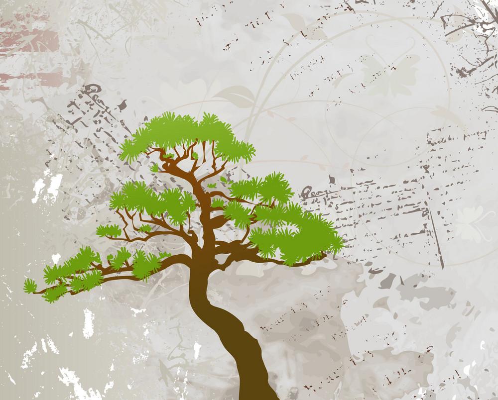 Green Tree Vector Illustration