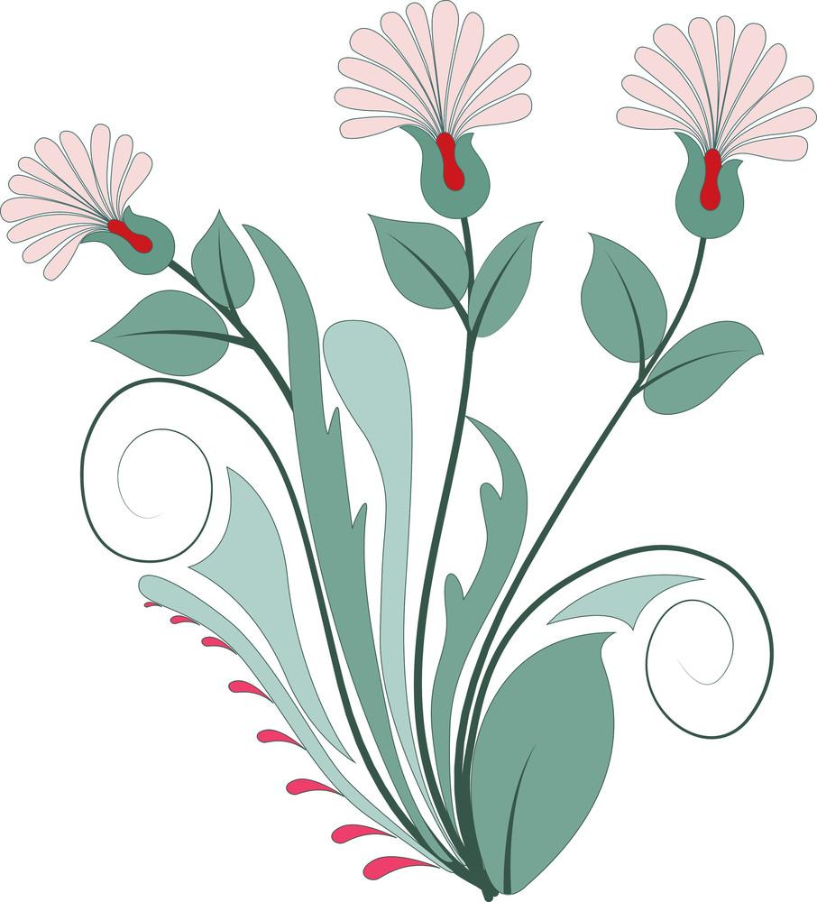 Green Vintage Floral