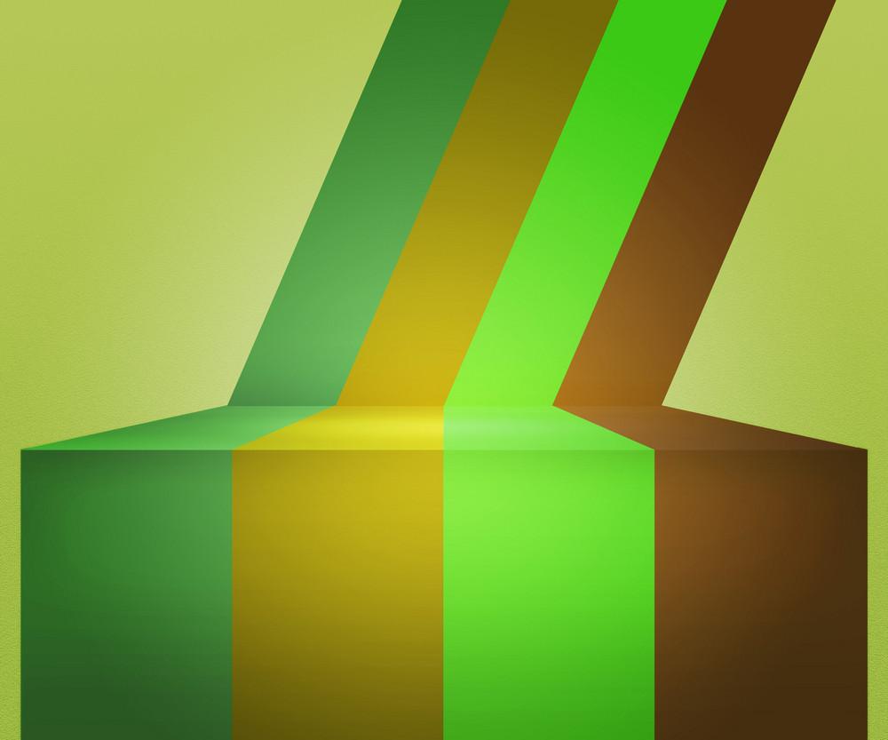 Green Vintage Stripes Stage Background
