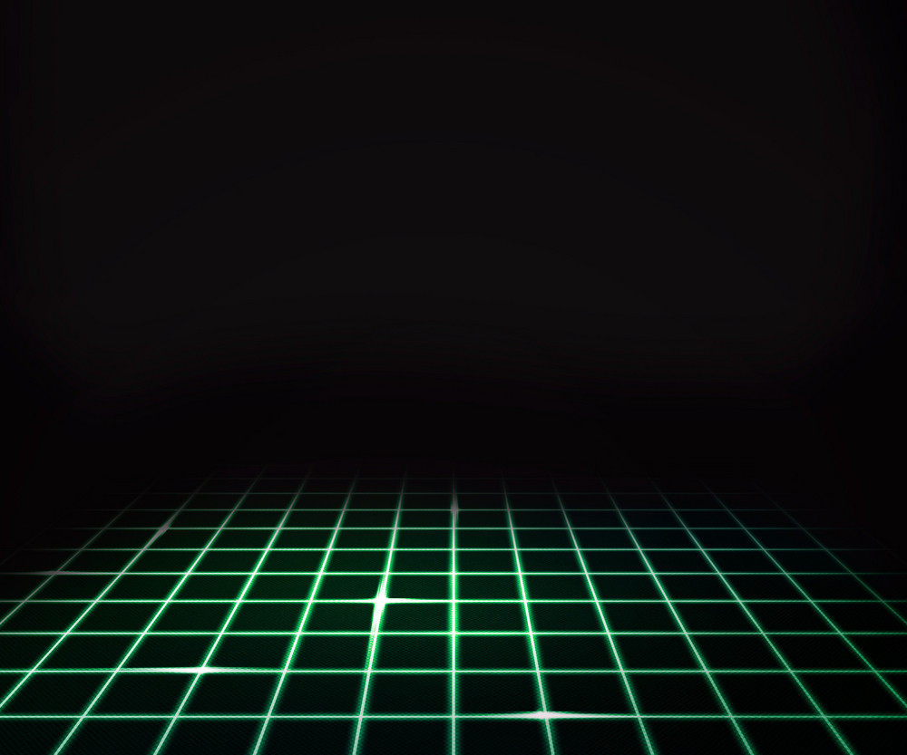 Green Virtual Laser Floor Background