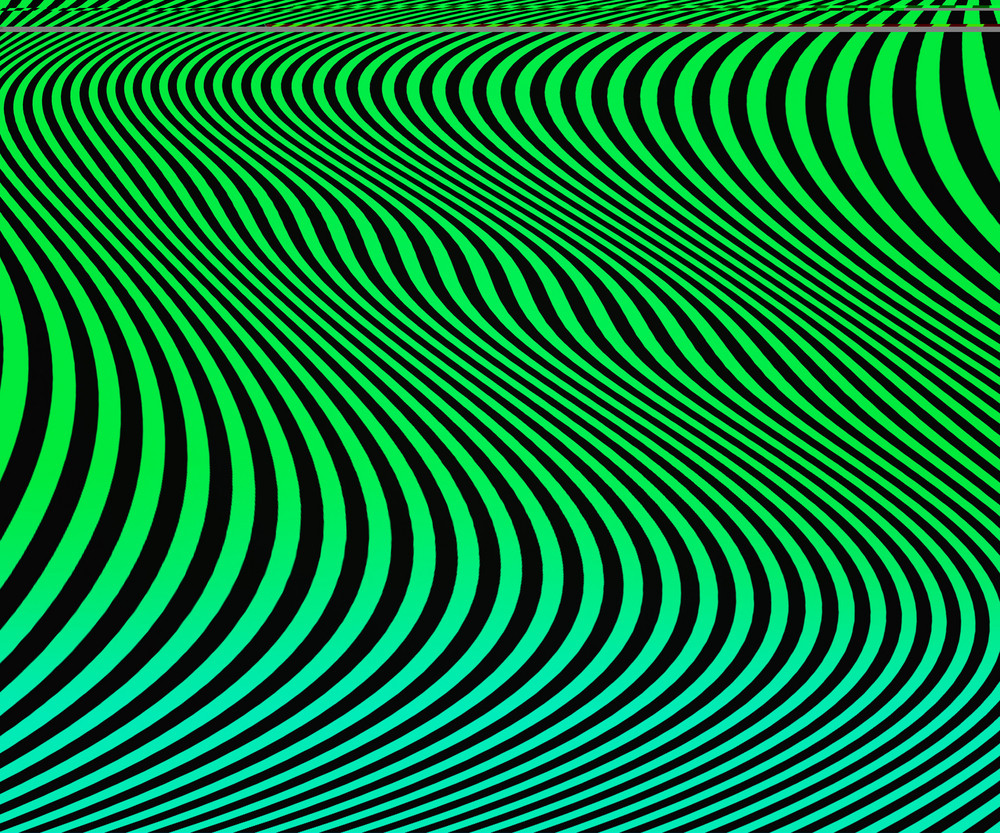 Green Wavy Stripes Background