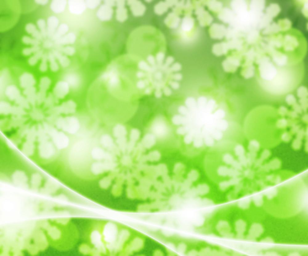 Green Winter Bokeh Background