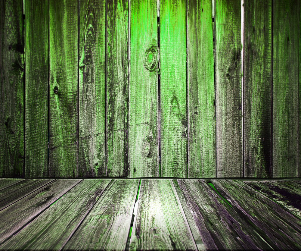 Green Wooden Floor Background
