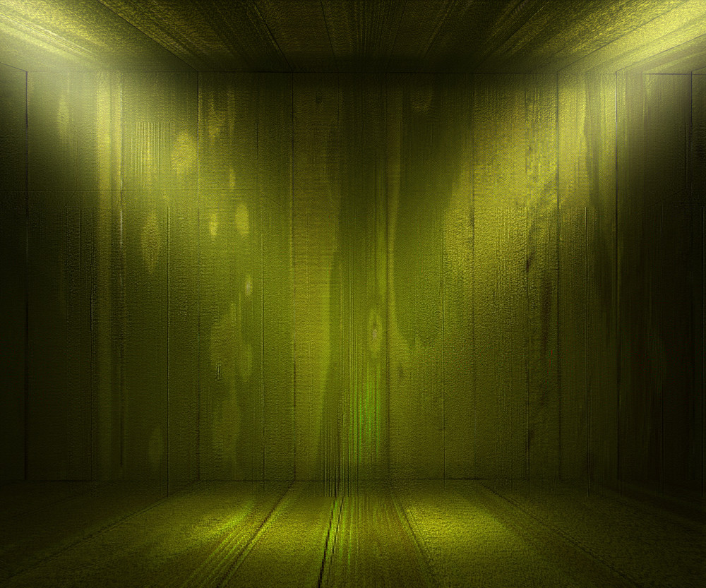 Green Wooden Spotlight Room Background