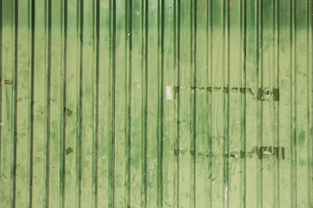 Green Zinc Background