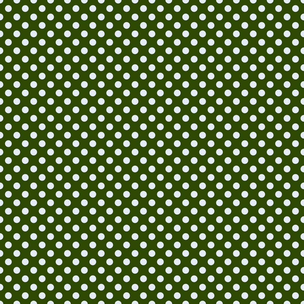 Green Monochrome Polka Dots Pattern