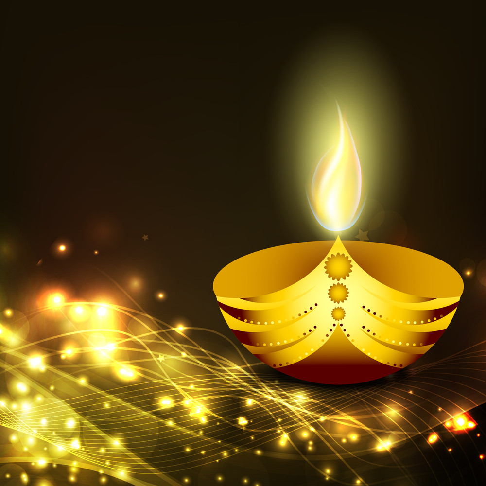 Greeting Card For Diwali Celebration In India Eps 10 Royalty Free