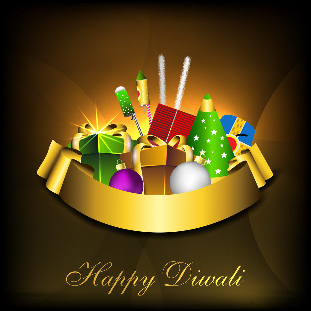 Greeting Card For Diwali Celebration In India Royalty Free Stock