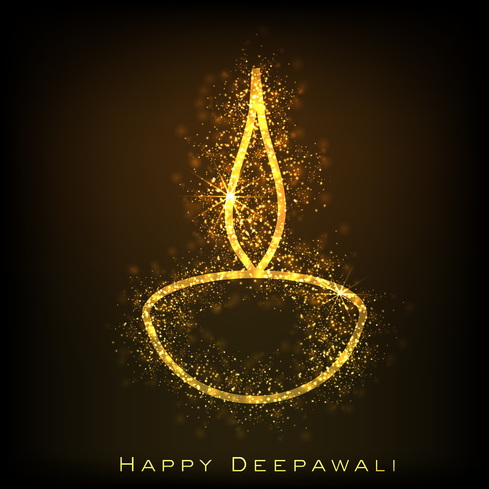 Greeting Card For Diwali Celebration In India.