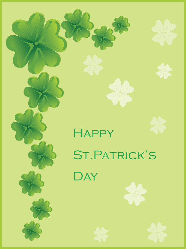 Greeting Card For St. Patrick's Day Celebration 17 March
