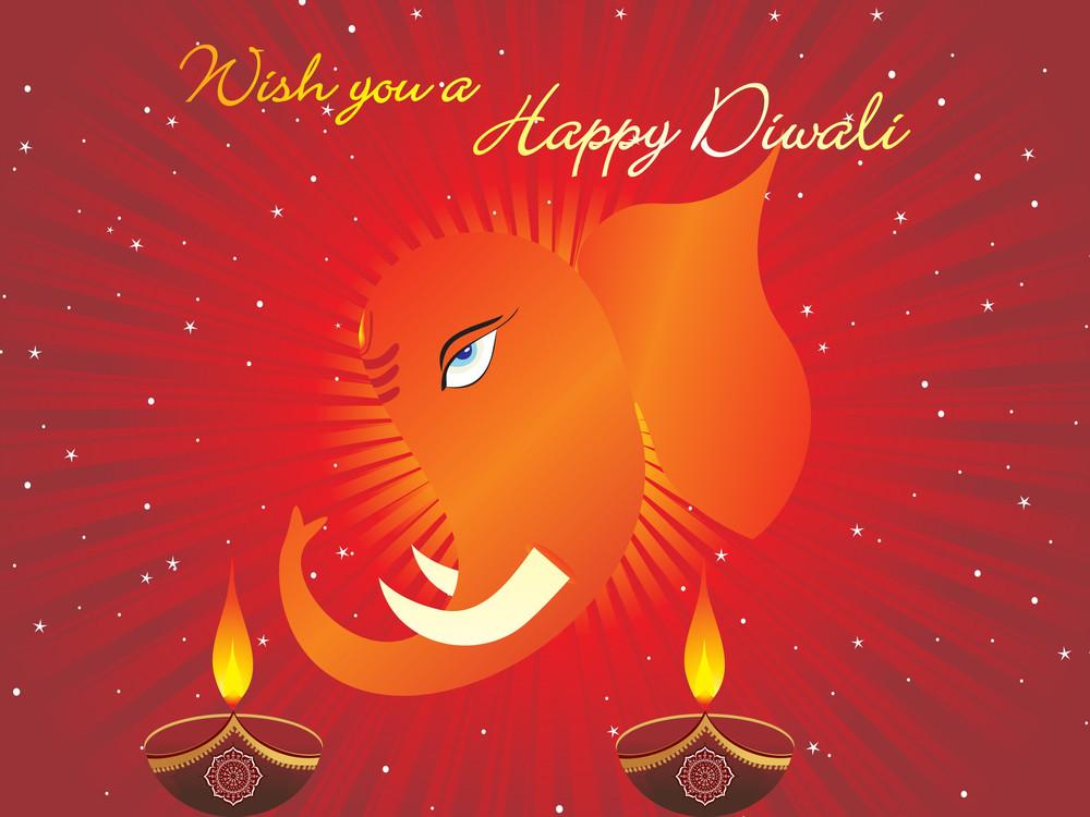 Gretting Card For Diwali Celebration
