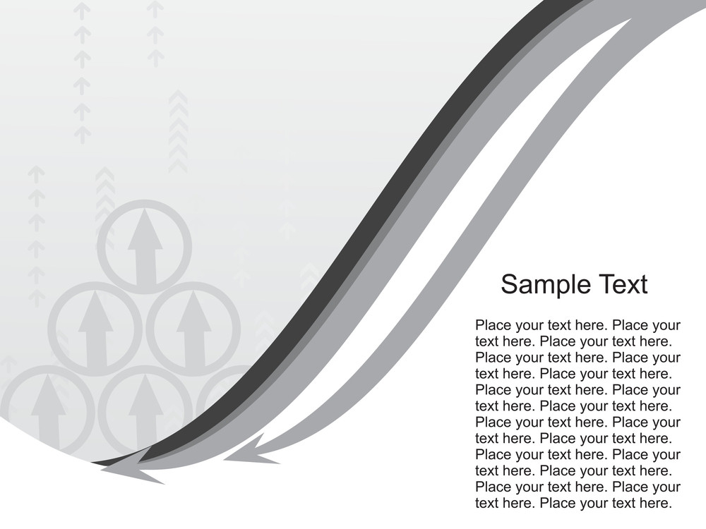 Grey Abstract Background With Sample Text