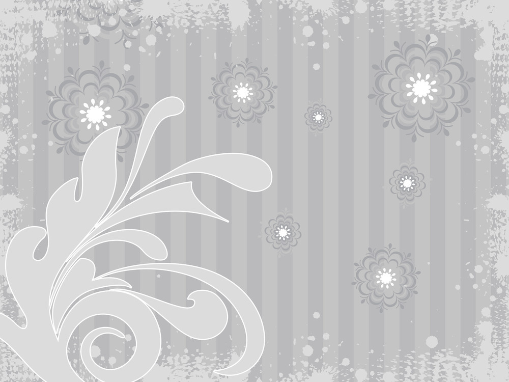 Grey Background With Creative Artwork