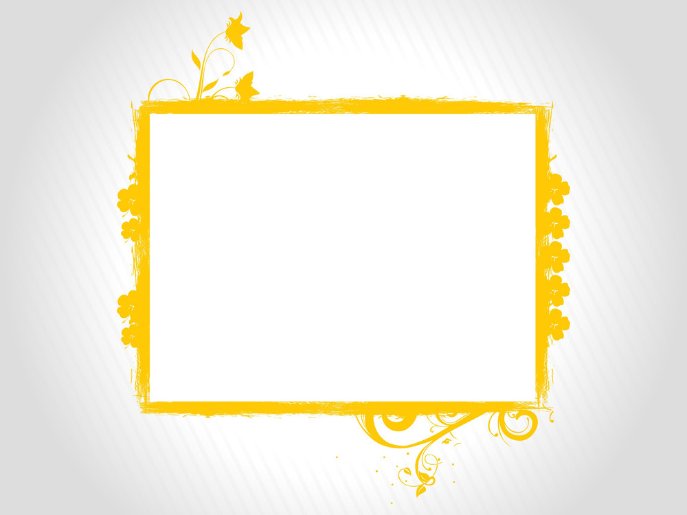 Grey Background With Isolated Frame