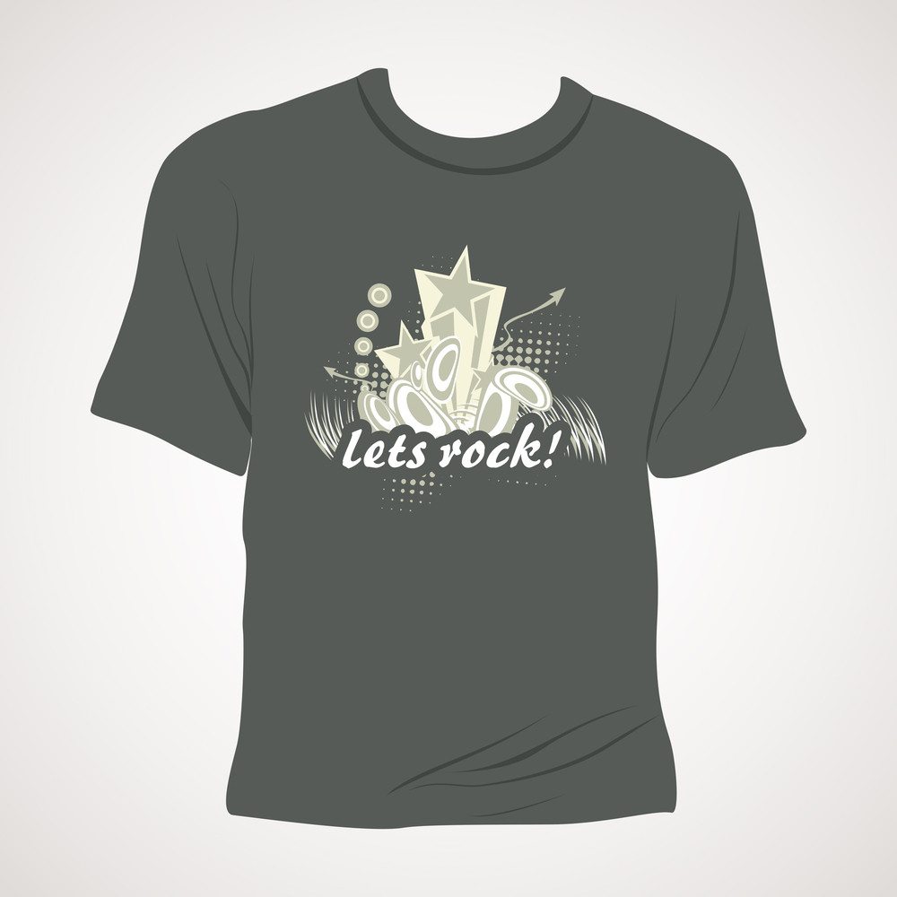Grey Background With Isolated Tshirt