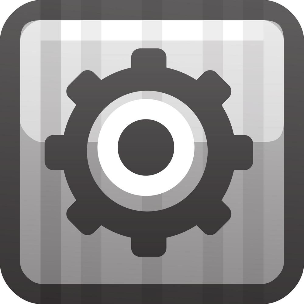 Grey Settings Gear Tiny App Icon