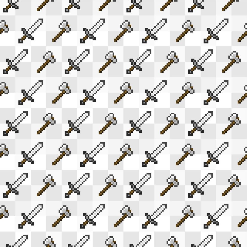 Grey Sword Minecraft Pattern