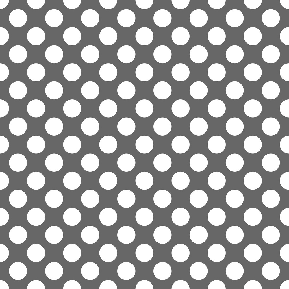 Pattern Of White Polka Dots On A Grey Background