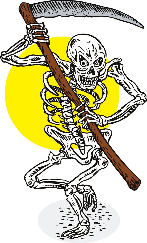 Grim Reaper Skeleton Stance