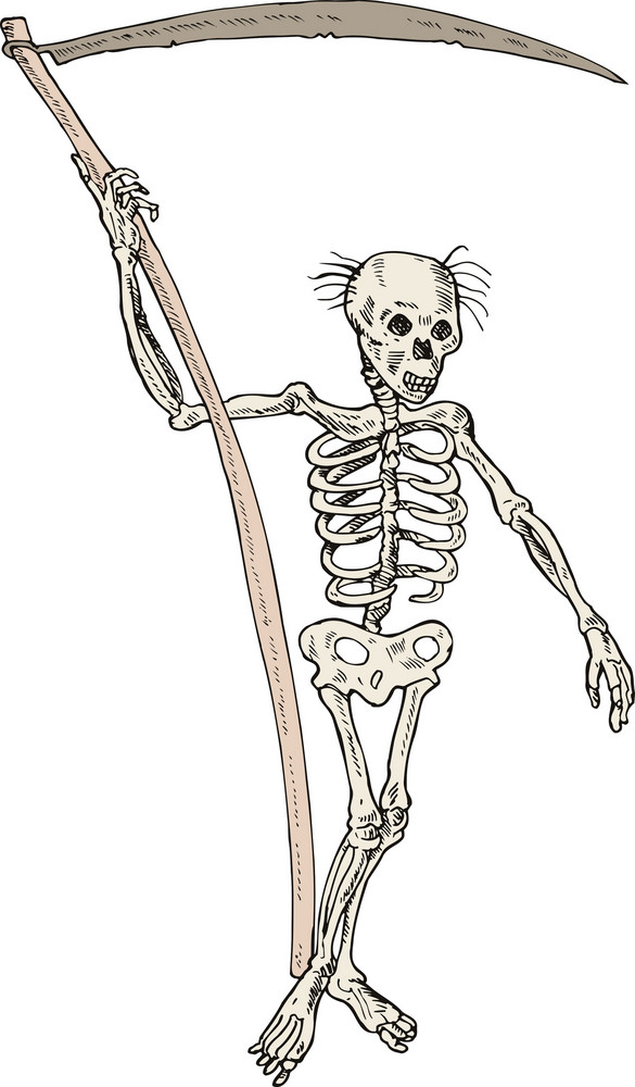 Grim Reaper Skeleton Standing