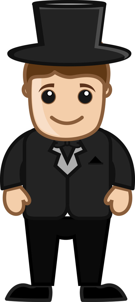 Groom Cartoon Vector Character